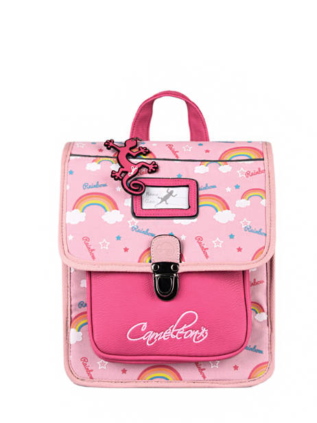Backpack 1 Compartment Cameleon Pink retro SD30 other view 1