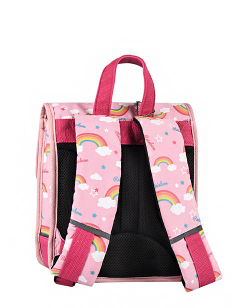 Backpack 1 Compartment Cameleon Pink retro SD30 other view 7
