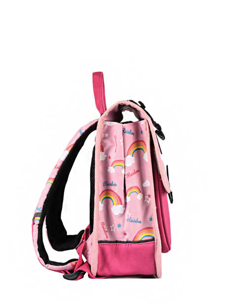 Backpack 1 Compartment Cameleon Pink retro SD30 other view 5