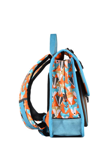 Backpack 1 Compartment Cameleon Multicolor retro SD30 other view 5