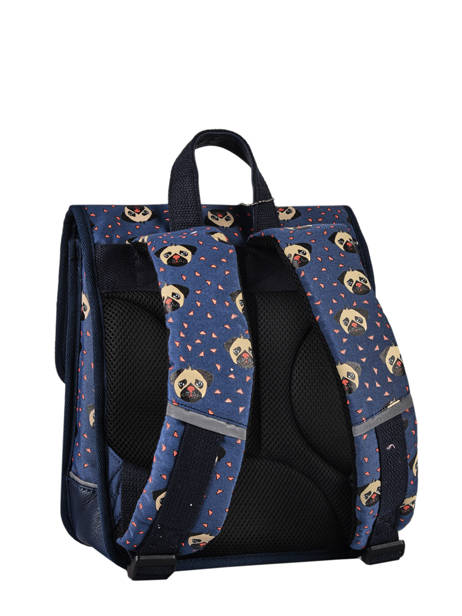 Backpack 1 Compartment Cameleon Blue retro SD30 other view 6