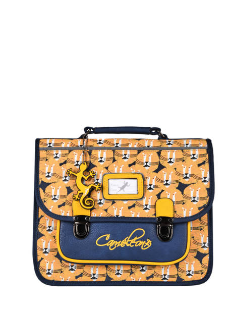 Satchel For Kids 1 Compartment Cameleon Yellow retro CA32
