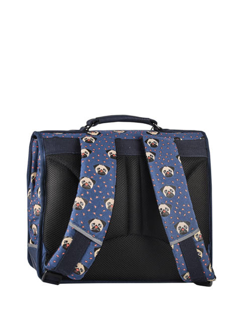 Satchel For Kids 1 Compartment Cameleon Blue retro CA32 other view 8