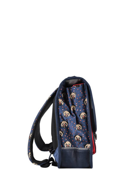 Satchel For Kids 1 Compartment Cameleon Blue retro CA32 other view 5