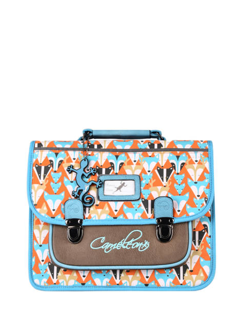Satchel For Kids 1 Compartment Cameleon Multicolor retro CA32