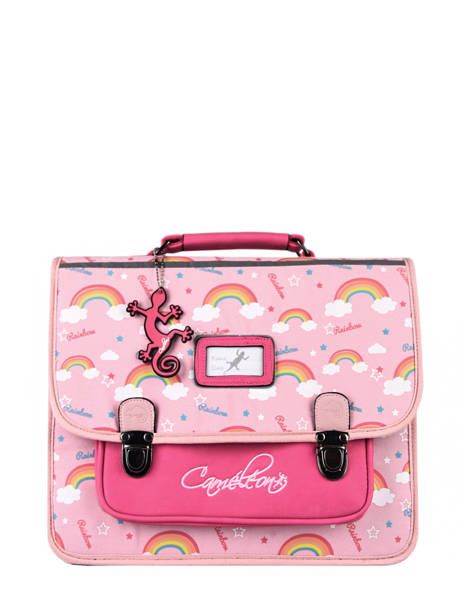 Satchel For Kids 2 Compartments Cameleon Pink retro CA35