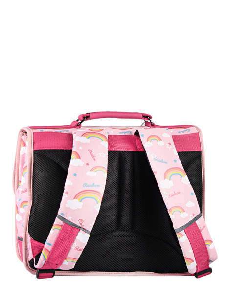 Satchel For Kids 2 Compartments Cameleon Pink retro CA35 other view 7
