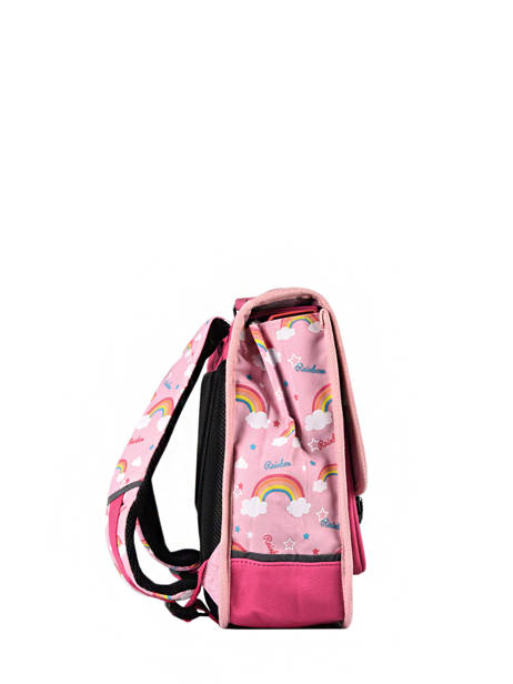 Satchel For Kids 2 Compartments Cameleon Pink retro CA35 other view 4