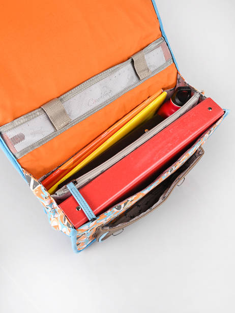 Satchel For Kids 2 Compartments Cameleon Multicolor retro CA35 other view 5