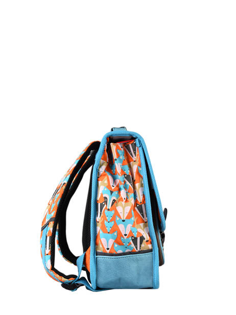 Satchel For Kids 2 Compartments Cameleon Multicolor retro CA35 other view 4