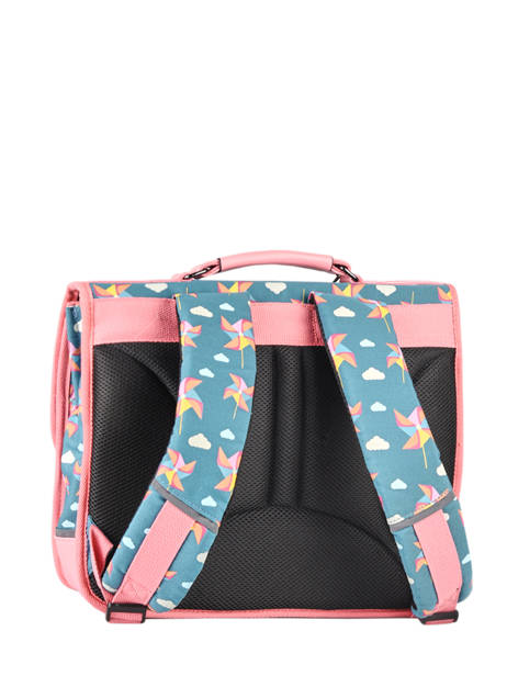 Satchel For Kids 2 Compartments Cameleon Black retro CA38 other view 7