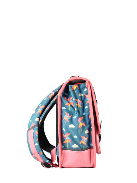 Satchel For Kids 2 Compartments Cameleon Black retro CA38 other view 4