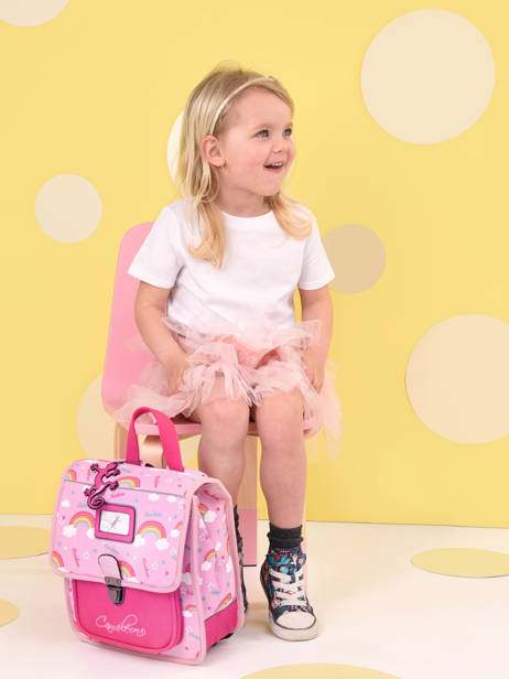 Backpack 1 Compartment Cameleon Pink retro SD30