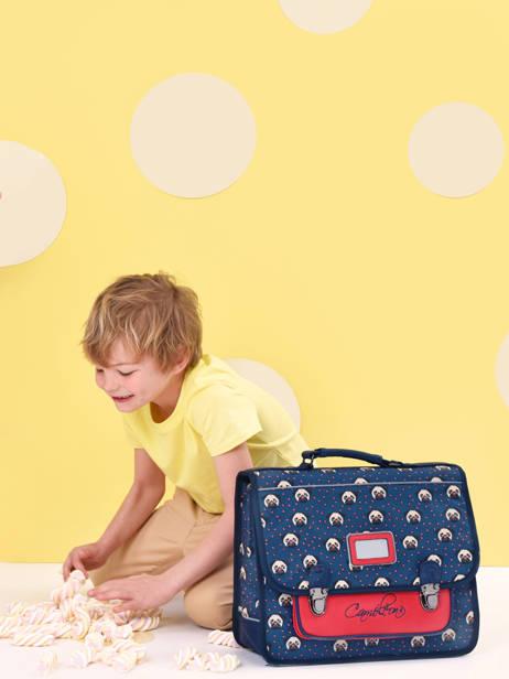 Cartable Enfant 1 Compartiment Cameleon Bleu retro CA32