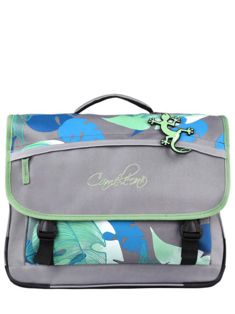 Satchel For Kids 3 Compartments Cameleon Gray actual CA41