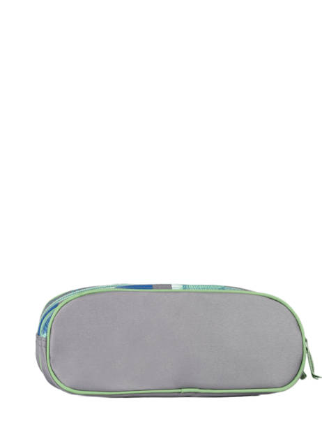 Pencil Case For Kids 2 Compartments Cameleon Gray actual TROU other view 2