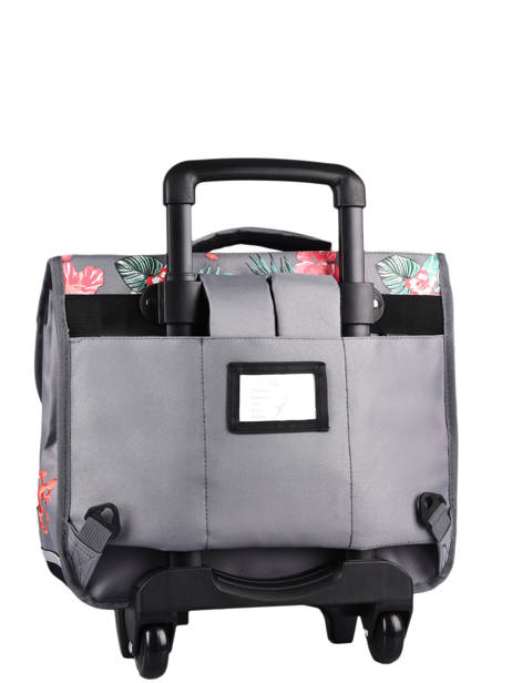 Wheeled Schoolbag For Kids 2 Compartments Cameleon Gray actual CR38 other view 8