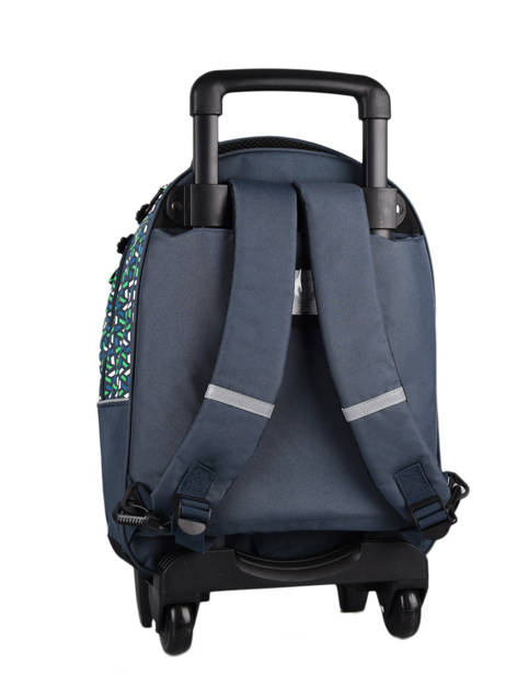 Wheeled Backpack For Kids 2 Compartments Cameleon Blue actual SR43 other view 6