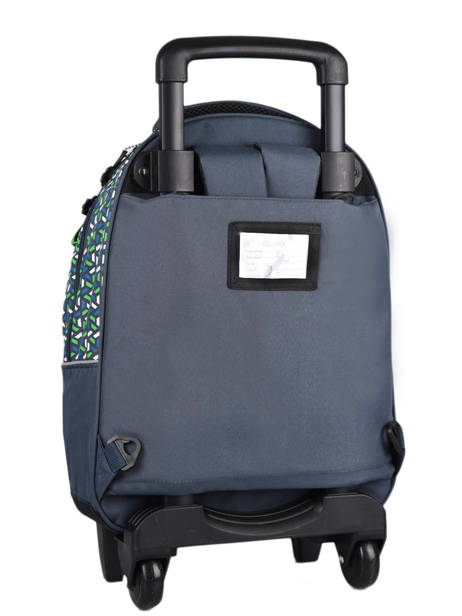 Wheeled Backpack For Kids 2 Compartments Cameleon Blue actual SR43 other view 7