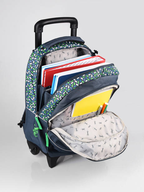 Wheeled Backpack For Kids 2 Compartments Cameleon Blue actual SR43 other view 5