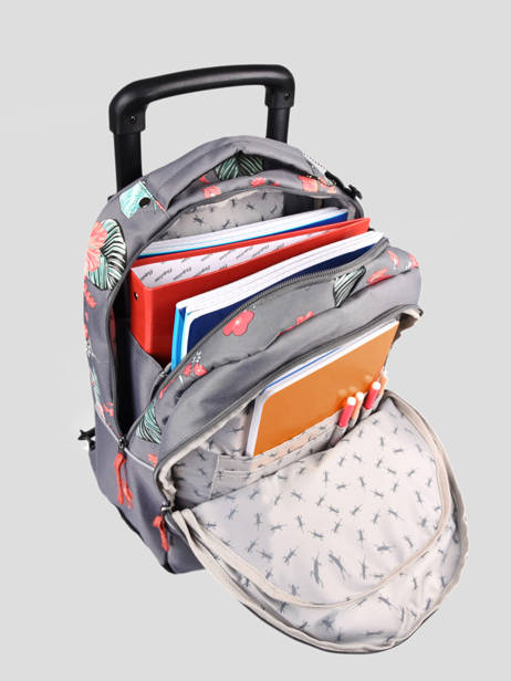 Wheeled Backpack For Kids 2 Compartments Cameleon Gray actual SR43 other view 5