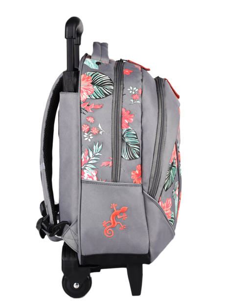 Wheeled Backpack For Kids 2 Compartments Cameleon Gray actual SR43 other view 4