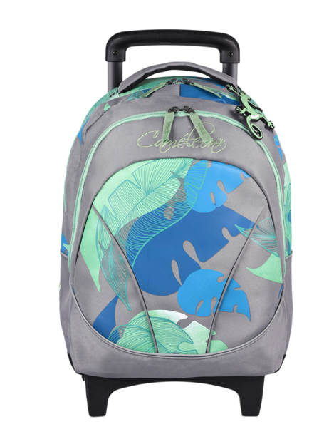 Wheeled Backpack For Kids 2 Compartments Cameleon Gray actual SR43