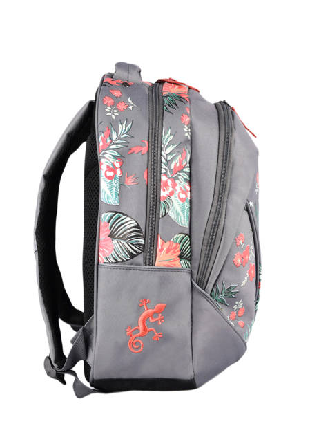 Backpack For Kids 2 Compartments Cameleon Gray actual SD43 other view 4