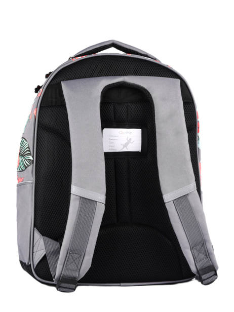 Backpack For Kids 2 Compartments Cameleon Gray actual SD43 other view 6