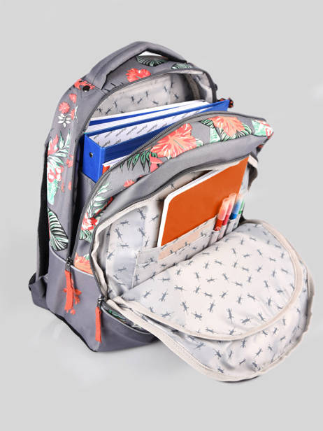 Backpack For Kids 2 Compartments Cameleon Gray actual SD43 other view 5