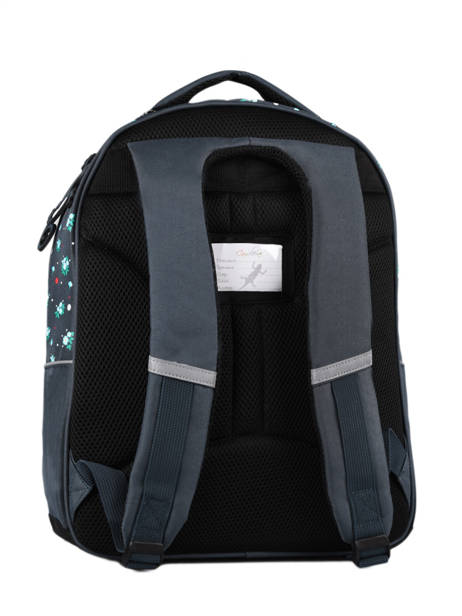 Backpack For Kids 2 Compartments Cameleon Blue actual SD43 other view 6