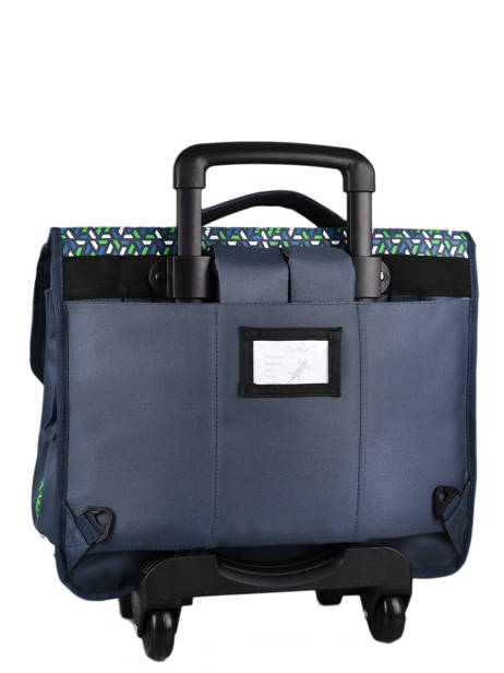 Wheeled Schoolbag For Kids 3 Compartments Cameleon Blue actual CR41 other view 8