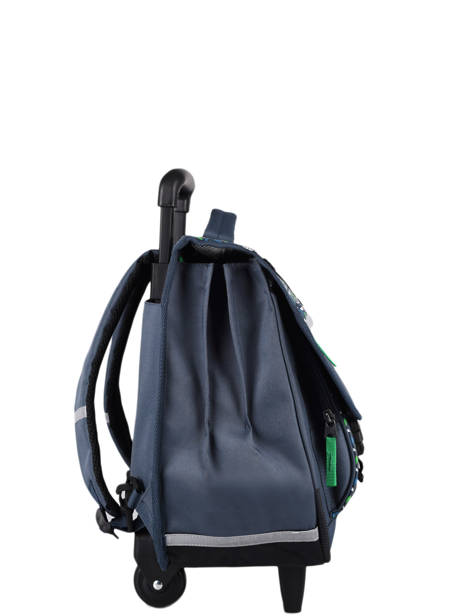 Wheeled Schoolbag For Kids 3 Compartments Cameleon Blue actual CR41 other view 4
