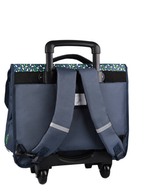 Wheeled Schoolbag For Kids 3 Compartments Cameleon Blue actual CR41 other view 7
