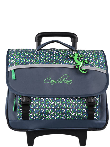 Wheeled Schoolbag For Kids 3 Compartments Cameleon Blue actual CR41