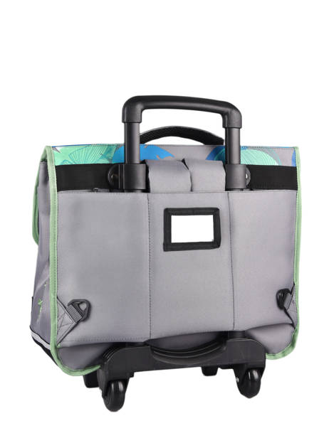 Wheeled Schoolbag For Kids 3 Compartments Cameleon Gray actual CR41 other view 8