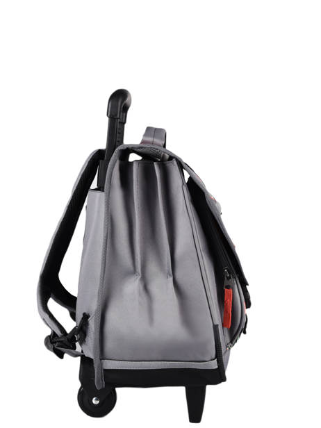Wheeled Schoolbag For Kids 3 Compartments Cameleon Gray actual CR41 other view 4