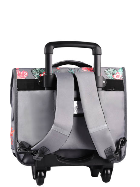 Wheeled Schoolbag For Kids 3 Compartments Cameleon Gray actual CR41 other view 7