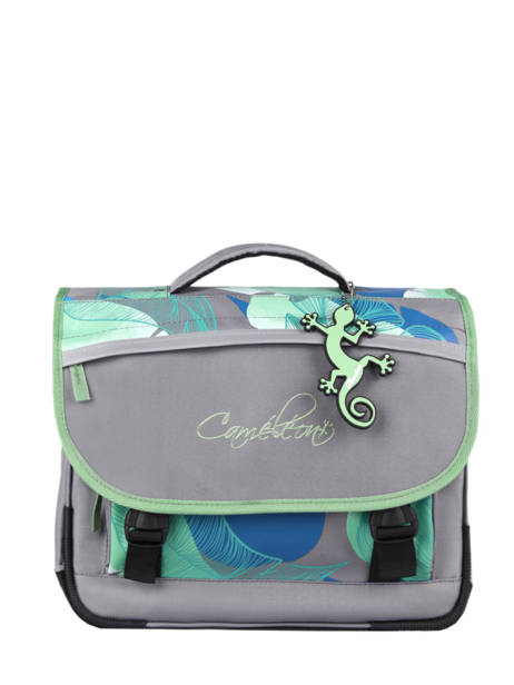 Satchel For Kids 2 Compartments Cameleon Gray actual BAS-CA35