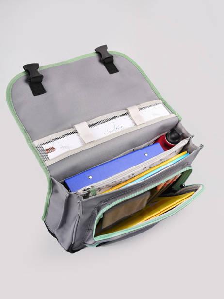 Boekentas Kind 2 Compartimenten Cameleon Grijs actual BAS-CA35 ander zicht 5
