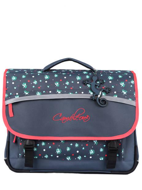 Satchel For Kids 3 Compartments Cameleon Blue actual CA41