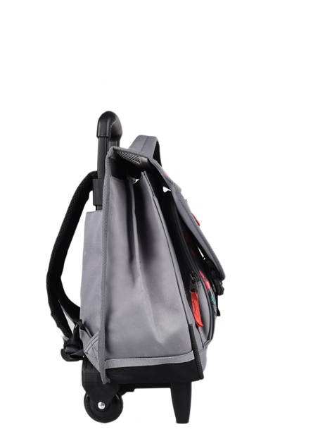 Wheeled Schoolbag For Kids 2 Compartments Cameleon Gray actual CR38 other view 4