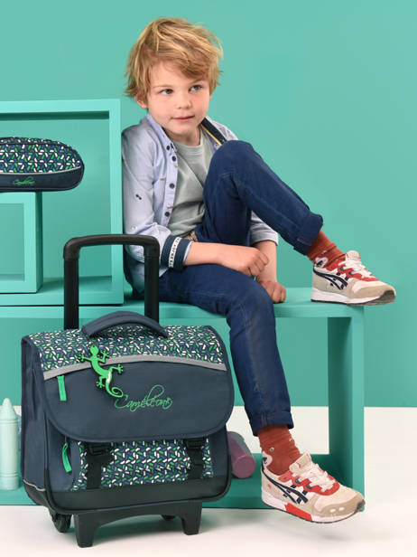 Wheeled Schoolbag For Kids 2 Compartments Cameleon Blue actual CR38