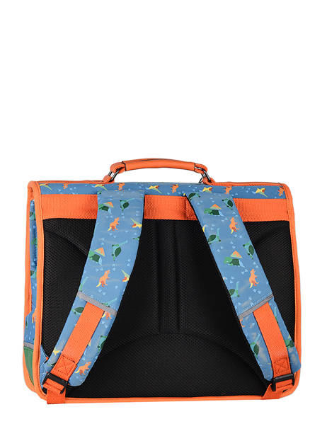 Satchel For Kids 2 Compartments Cameleon Blue retro CA35 other view 7