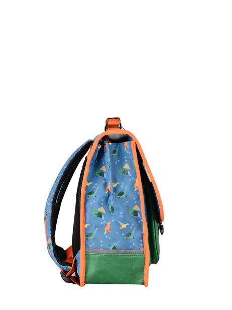 Satchel For Kids 2 Compartments Cameleon Blue retro CA35 other view 4