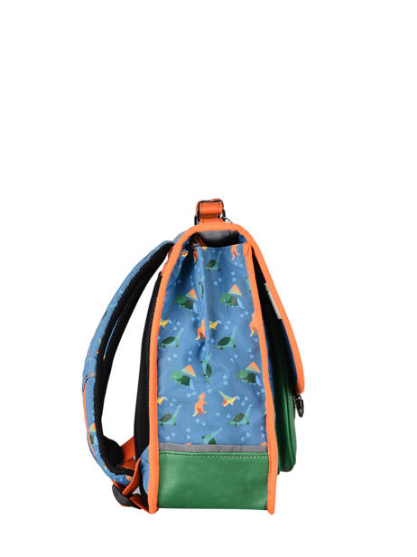 Satchel For Kids 2 Compartments Cameleon Blue retro CA38 other view 4