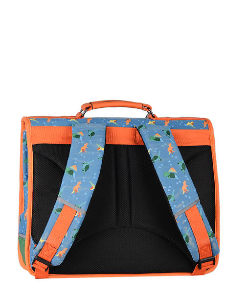 Satchel For Kids 2 Compartments Cameleon Blue retro CA38 other view 7