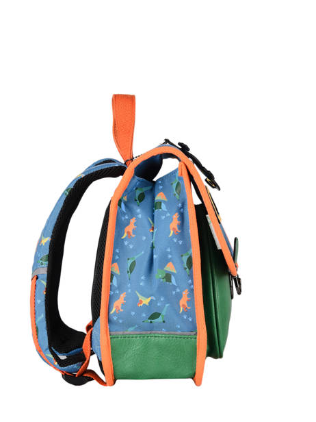 Backpack 1 Compartment Cameleon Blue retro SD30 other view 4