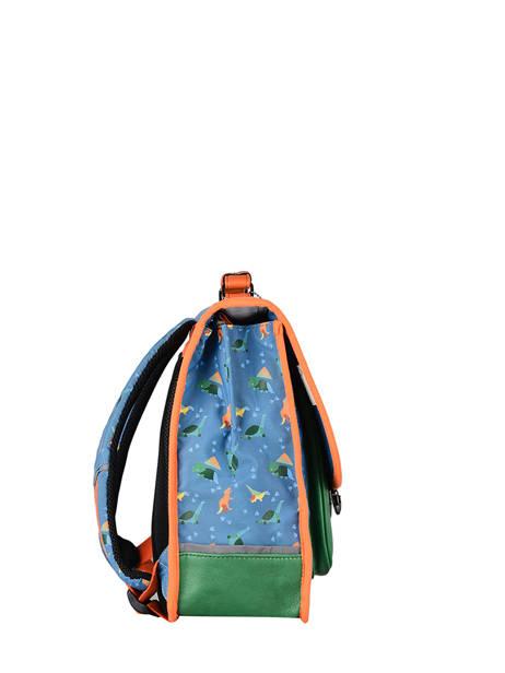 Cartable Enfant 1 Compartiment Cameleon Bleu retro CA32 vue secondaire 4