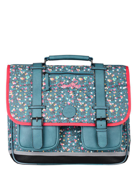 Satchel For Girls 3 Compartments Cameleon Blue vintage fantasy CA41